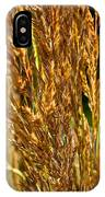 Yellow Feather Reed Grass IPhone Case