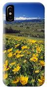 Yellow Flowers Blooming, Hood River IPhone Case
