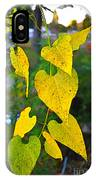 Yellow Heart Leaves  Photoart I IPhone Case