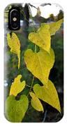 Yellow Heart Leaves Photoart II IPhone Case