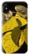Yellow Leaves On A Tree Branch IPhone Case