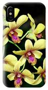 Yellow Orchid Cascade IPhone Case