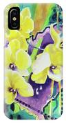 Yellow Orchids Of The Heart IPhone Case