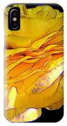 Yellow Ranunculus Flower With Blue Colored Edges Effect IPhone Case
