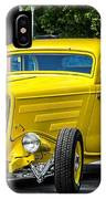 Yellow Rod IPhone Case