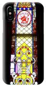 Yellow Stained Glass Window IPhone Case