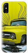 Yellow Truck In Truck Grill IPhone Case