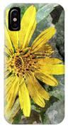 Yellow Wildflower Photoart IPhone Case