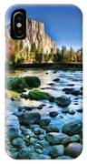 Yosemite Rocks In River IPhone Case