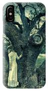 Young Lady In White By Tree IPhone Case