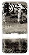 Zebra Reflection  IPhone Case