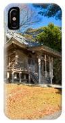 Zen Building In A Garden At A Sunny Morning IPhone Case