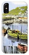 1900 Harbour View Mousehole Cornwall England IPhone Case