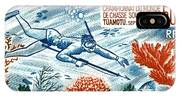 1965 French Polynesia Spearfishing Postage Stamp IPhone Case