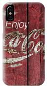 Coca Cola Sign Barn Wood IPhone Case