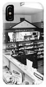 Counter In Drugstore 1959 Black White 1950s IPhone Case