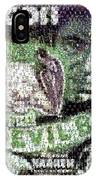 Devil Bat Movie Poster Horror Mosaic IPhone Case