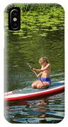 Girl In Canoe IPhone Case
