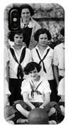 Girls High School Basketball Team 1910s Black IPhone Case