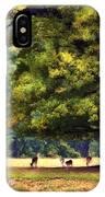 Landscape Under A Big Oak In Autumn IPhone Case