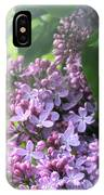 Lilacs On A Misty Morning IPhone Case