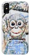Monkey Rainbow Splattered Fragmented Blue IPhone Case