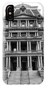 Old Executive Office Building Bw IPhone Case