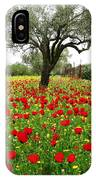 Olive Amongst Poppies IPhone Case