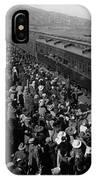 People Greeting Troop Train 19171918 Black White IPhone Case