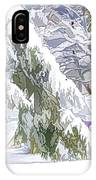 Pine Branch Tree Under Snow IPhone Case