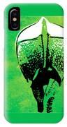 Rhino Animal Decorative Green Poster 6 - By  Diana Van IPhone Case