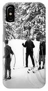 Skiers January 19 1967 Black White 1960s Archive IPhone Case