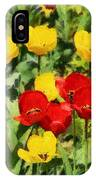 Spring Landscape With Tulips IPhone Case