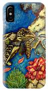 Sweet Mystery Of The Sea A Hawksbill Sea Turtle Coasting In The Coral Reefs Original IPhone Case