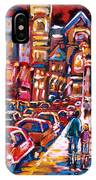 The Night Life On Crescent Street IPhone Case