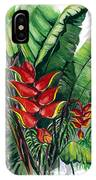 Tiger Claw .. Heliconia IPhone Case