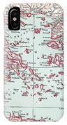 Map: Ancient Greece IPhone Case