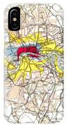 Map Of London, 1881 IPhone Case