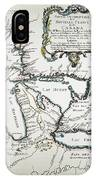 Great Lakes Map, 1755 IPhone Case