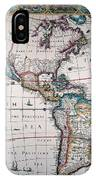 New World Map, 1616 IPhone Case