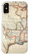 Map: United States, 1820 IPhone Case