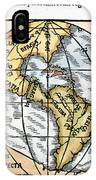 World Map, 1529 IPhone Case