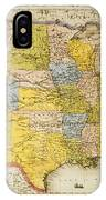 United States Map, 1866 IPhone Case