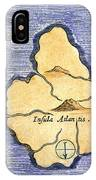 Map Of Atlantis, 1678 IPhone Case