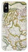Map Of Europe, 1623 IPhone Case