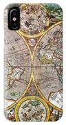 World Map, 1607 IPhone Case