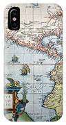 New World Map, 1570 IPhone Case