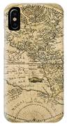 W. Hemisphere Map, 1596 IPhone Case
