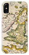 Map Of Great Britain, 1623 IPhone Case