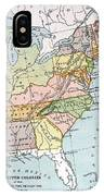 United States Map, C1791 IPhone Case